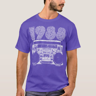 1988 boombox t shirt - Class Reunion T Shirt Design Ideas