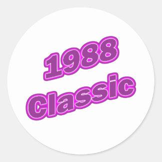 1988 Classic Purple Round Stickers