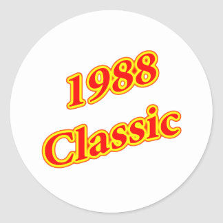 1988 Classic Red Stickers