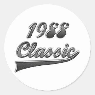 1988 Classic Round Stickers