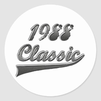 1988 Classic Round Stickers