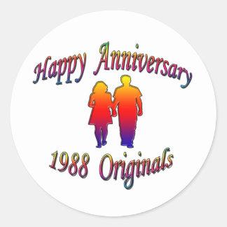 1988 Couple Round Sticker