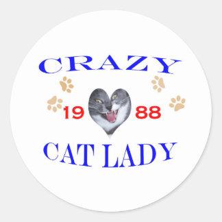 1988 Crazy Cat Lady Sticker