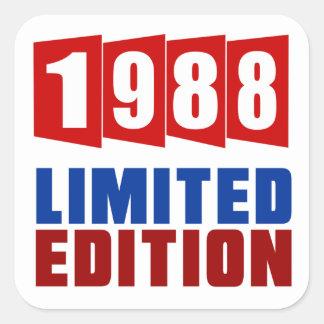 1988 Limited Edition Square Sticker