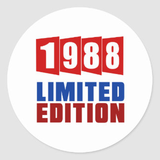 1988 Limited Edition Round Sticker