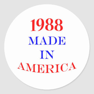1988 Made in America Round Stickers