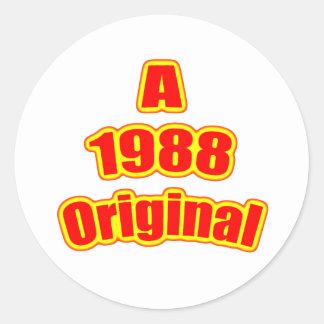 1988 Original Red Round Sticker