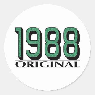 1988 Original Round Sticker