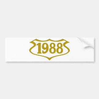 1988-shield.png bumper sticker
