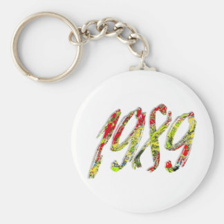 1989 BASIC ROUND BUTTON KEY RING