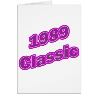 1989 Classic Purple Greeting Cards