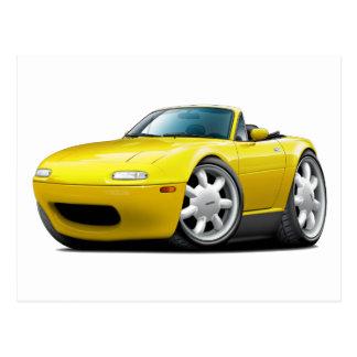1990-98 Miata Yellow Car Postcard