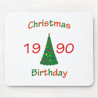 1990 Christmas Birthday Mousepad