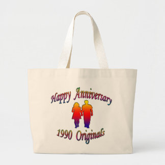 1990 Couple Large Tote Bag
