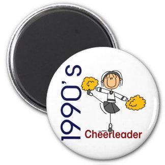 1990's Cheerleader Stick Figure 6 Cm Round Magnet