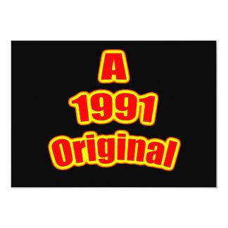1991 Original Red Blk Invitation