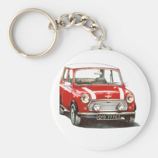 1991 Rover Mini Cooper Basic Round Button Key Ring