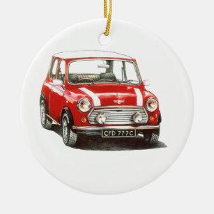 Mini Car Christmas Tree Decorations Ornaments Zazzle Co Uk