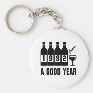 1992 A Good Year Basic Round Button Key Ring