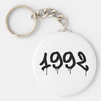 1992 BASIC ROUND BUTTON KEY RING