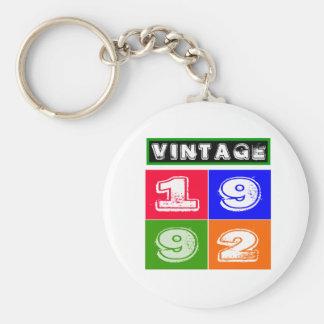 1992 Birthday Designs Keychain
