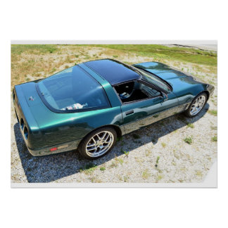 1992 C4 Corvette Poster