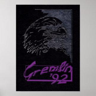 1992 Graydon Gremlin Yearbook Poster