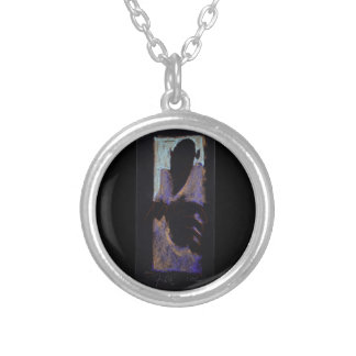 "1992  Pastel by EJ, ""Soul Portrait of Lee"" Silver Plated Necklace"