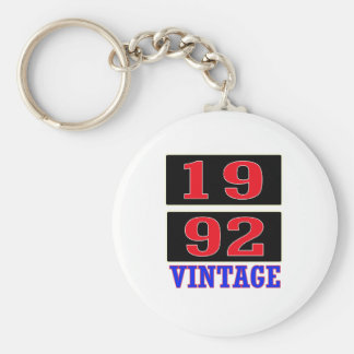1992 Vintage Basic Round Button Key Ring