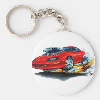 1993-97 Camaro Red Car Basic Round Button Key Ring
