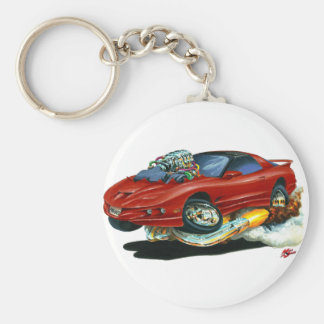 1993-97 Trans Am Maroon Car Basic Round Button Key Ring