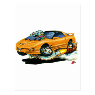 1993-97 Trans Am Orange Car Post Card