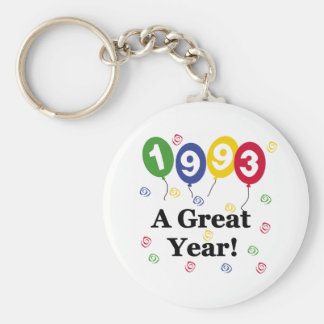 1993 A Great Year Birthday Basic Round Button Key Ring