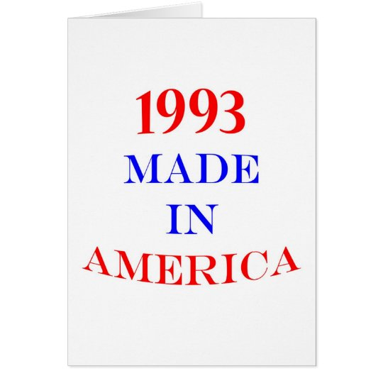 1993 America Card