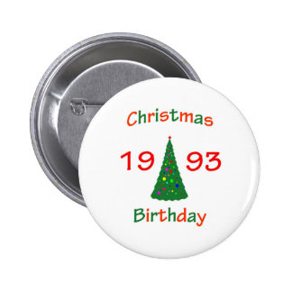 1993 Christmas Birthday 6 Cm Round Badge