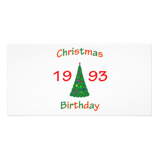 1993 Christmas Birthday Custom Photo Card