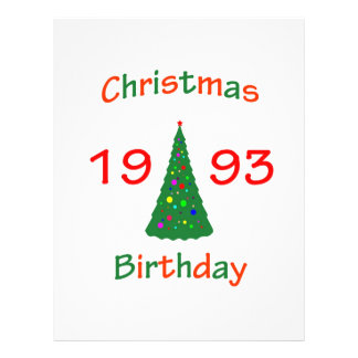 1993 Christmas Birthday Flyers