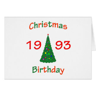 1993 Christmas Birthday Greeting Card