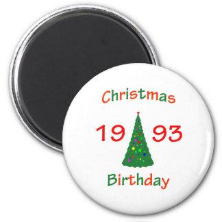 1993 Christmas Birthday Refrigerator Magnet