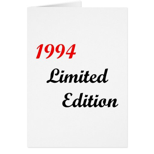 1994 Limited Edition Card