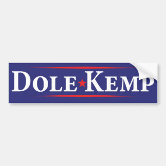 1996 Bob Dole Jack Kemp Election Bumper Sticker