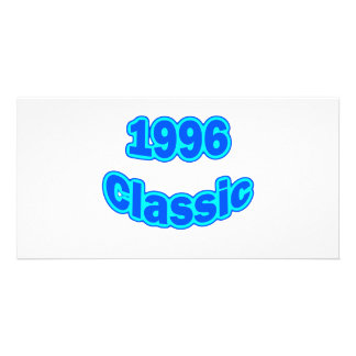 1996 Classic Blue Photo Card Template