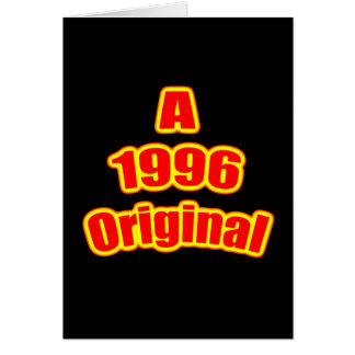 1996 Original Red Blk Card