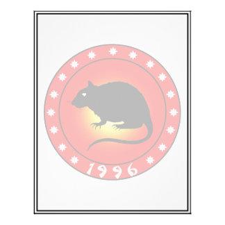 1996 Year of the Rat 21.5 Cm X 28 Cm Flyer