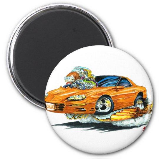1998-02 Camaro Orange Car 6 Cm Round Magnet