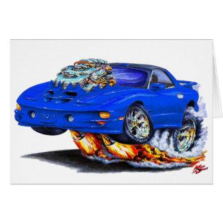 1998-02 Firebird Trans Am Blue Car Greeting Card