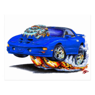 1998-02 Firebird Trans Am Blue Car Postcard