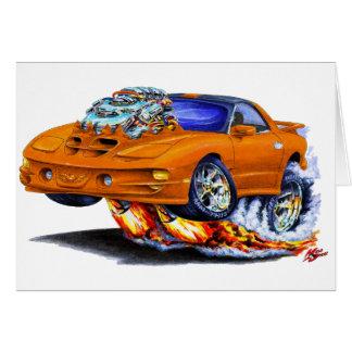 1998-02 Firebird Trans Am Orange Car Greeting Card