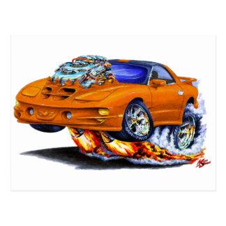 1998-02 Firebird Trans Am Orange Car Postcard