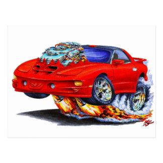 1998-02 Firebird Trans Am Red Car Postcard